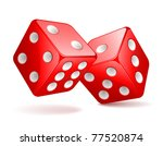 illustration of red dices   Shutterstock . vector #77520874