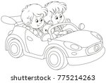 black and white vector... | Shutterstock .eps vector #775214263