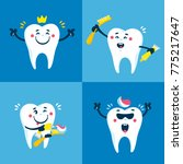 dental collection for your... | Shutterstock .eps vector #775217647