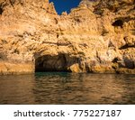 lagos caves and seashore.... | Shutterstock . vector #775227187