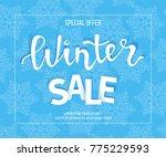 winter sale banner  poster ... | Shutterstock .eps vector #775229593