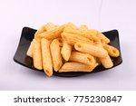 crispy   spicy pasta shape... | Shutterstock . vector #775230847