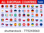 all european countries official ... | Shutterstock .eps vector #775243063