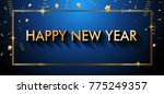 2018 happy new year background... | Shutterstock .eps vector #775249357
