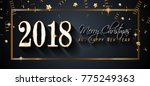 2018 happy new year background... | Shutterstock .eps vector #775249363