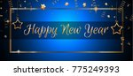 2018 happy new year background... | Shutterstock .eps vector #775249393