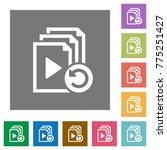 undo last playlist operation... | Shutterstock .eps vector #775251427