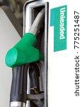 unleaded petrol at the petrol... | Shutterstock . vector #775251487
