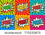 free   comic book style...   Shutterstock .eps vector #775252873