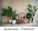modern loft living room with... | Shutterstock . vector #775254127