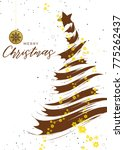 a clean and elegant christmas... | Shutterstock .eps vector #775262437