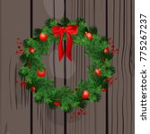 christmas decoration wreath... | Shutterstock .eps vector #775267237