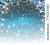 twinkling snow particles with... | Shutterstock .eps vector #775267483