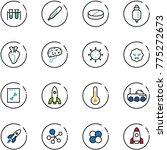 line vector icon set   vial... | Shutterstock .eps vector #775272673