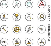 line vector icon set   barbell... | Shutterstock .eps vector #775272907