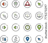 line vector icon set   left... | Shutterstock .eps vector #775273297