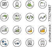 line vector icon set  ... | Shutterstock .eps vector #775274887