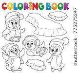 coloring book happy winter... | Shutterstock .eps vector #775275247