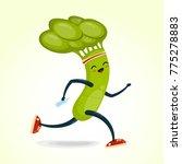 running  broccoli cartoon... | Shutterstock .eps vector #775278883