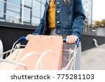 cropped shot of woman on... | Shutterstock . vector #775281103