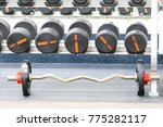 fitness wights close up | Shutterstock . vector #775282117