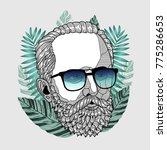 hipster portrait of composer...   Shutterstock .eps vector #775286653