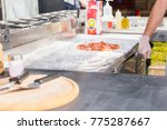 the process of making a pizza... | Shutterstock . vector #775287667
