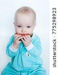 cute funny little baby girl in... | Shutterstock . vector #775298923