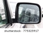car rear view mirror in the... | Shutterstock . vector #775325917