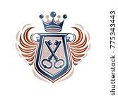heraldic coat of arms... | Shutterstock .eps vector #775343443