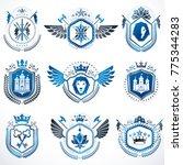 set of vector vintage emblems...   Shutterstock .eps vector #775344283