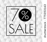70  sale icon. discount banner... | Shutterstock .eps vector #775353163