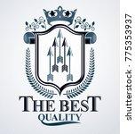 vintage emblem  vector heraldic ... | Shutterstock .eps vector #775353937