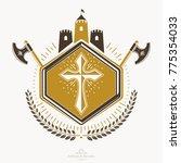 heraldic signs vector vintage... | Shutterstock .eps vector #775354033
