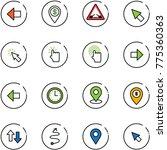 line vector icon set   left... | Shutterstock .eps vector #775360363