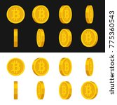 gold rotate bitcoin frames set...