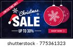 christmas sale limited time... | Shutterstock .eps vector #775361323