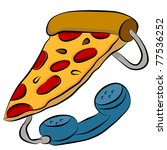 an image of a pizza phone...