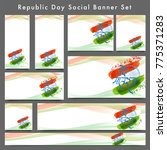 social banner set with text... | Shutterstock .eps vector #775371283