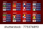 various vector country flags....   Shutterstock .eps vector #775376893