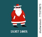 secret santa vector llustration | Shutterstock .eps vector #775378873