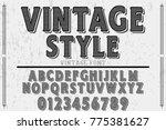 font alphabet script typeface... | Shutterstock .eps vector #775381627