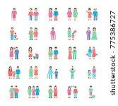 family set of flat icon  | Shutterstock .eps vector #775386727