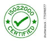 grunge green iso 22000... | Shutterstock .eps vector #775398577