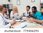 a group of doctors of different ... | Shutterstock . vector #775406293