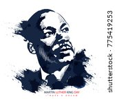 martin luther king jr | Shutterstock .eps vector #775419253