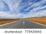 a road over the grassland | Shutterstock . vector #775425043
