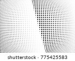 abstract halftone wave dotted... | Shutterstock .eps vector #775425583