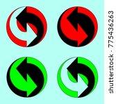 set of arrows  vector clipart ... | Shutterstock .eps vector #775436263