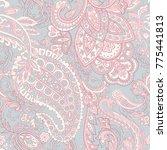 paisley vector seamless pattern.... | Shutterstock .eps vector #775441813